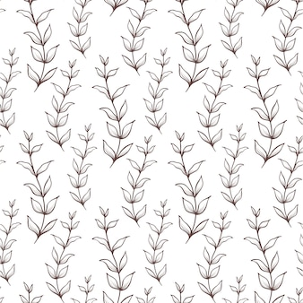 Sfondo trasparente con foglie. modello vintage. trama botanica.