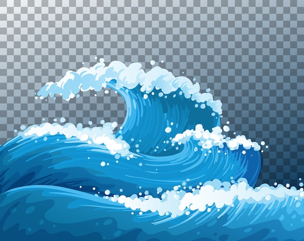 Sfondo trasparente onde giganti del mare