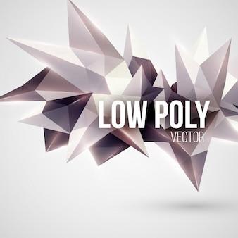 Sfondo triangolare basso poli. elemento di design.