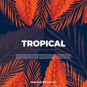 Sfondo tropicale colorato con design realistico
