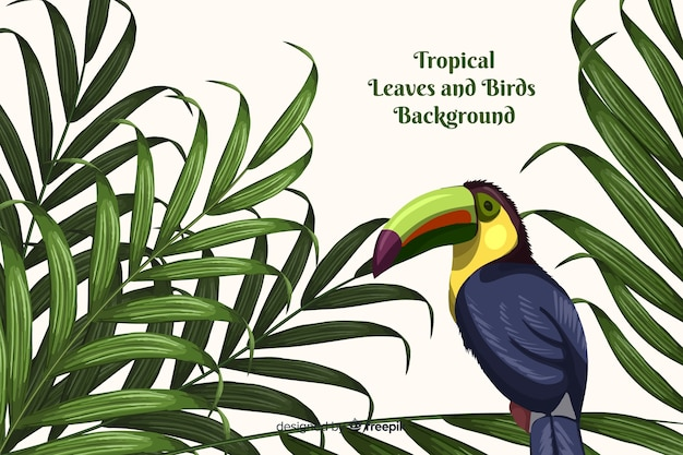 Sfondo tropicale con animali