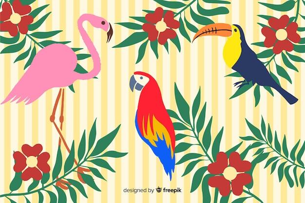 Sfondo tropicale disegnato a mano