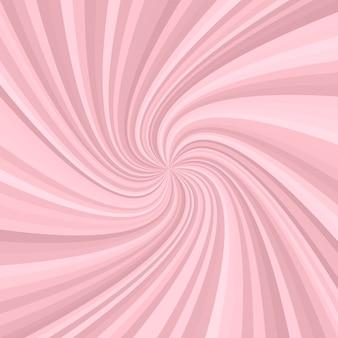 Sfondo turbinio astratto - disegno grafico vettoriale dai raggi rotanti in toni rosa