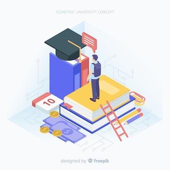 Sfondo università isometrica