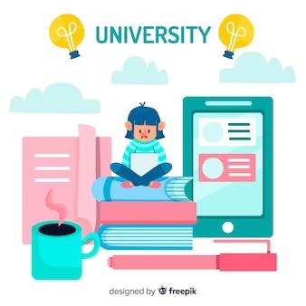 Sfondo università piatta