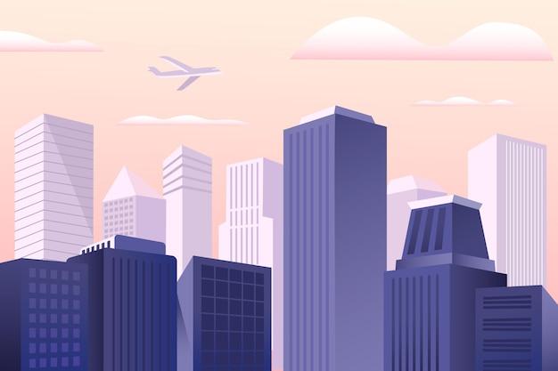 Sfondo urbano della città per videoconferenze