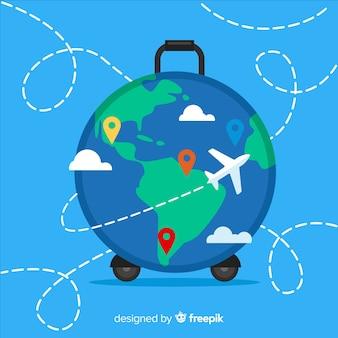 Sfondo valigia globo