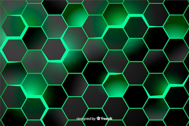 Sfondo verde a nido d'ape