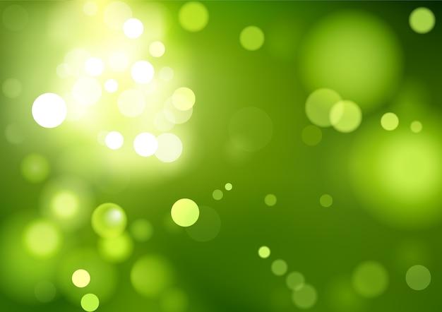 Sfondo verde bokeh