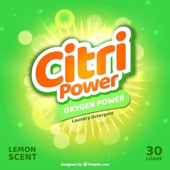 Sfondo verde del detergente