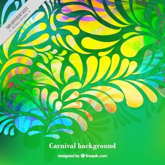 Sfondo verde di forme ornamentali