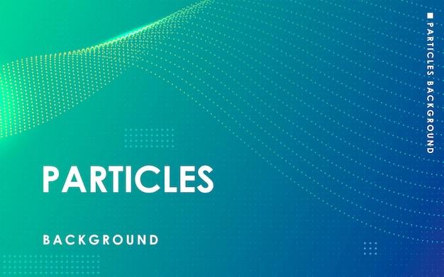 Sfondo verde dinamico di particelle astratte