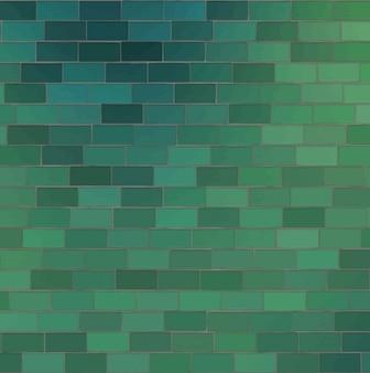 Sfondo verde fatta di mattoni