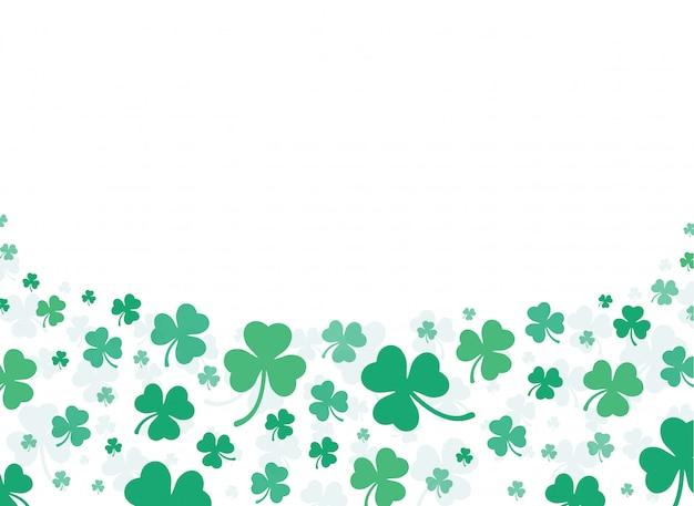 Sfondo verde foglia di trifoglio