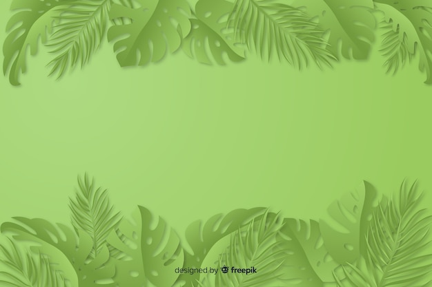 Sfondo verde monocromatico con foglie