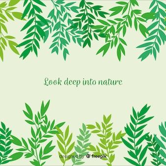 Sfondo verde natura con citazione