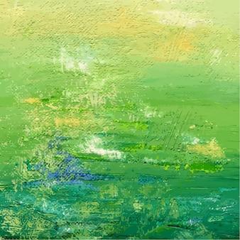 Sfondo verde verniciato acrilico o olio. sfondo astratto. illustrazione vettoriale