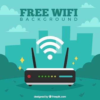 Sfondo verde wifi