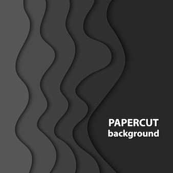 Sfondo vettoriale con taglio di carta di colore nero
