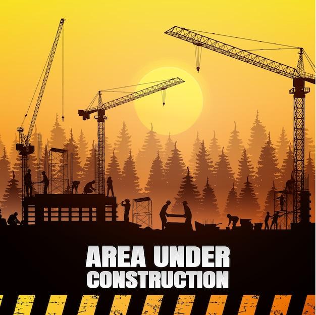 Sfondo vettoriale di costruzione.