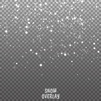 Sfondo vettoriale di neve che cade. sfondo di decorazione di natale con snoflakes