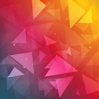 Sfondo vettoriale triangolo astratto poligono.