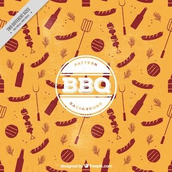Sfondo vintage con elementi barbecue