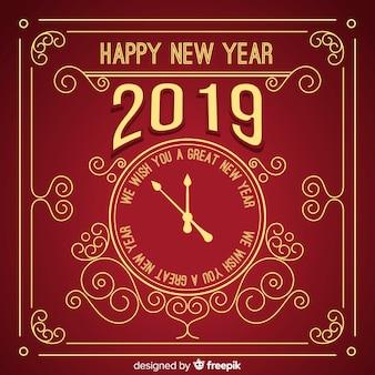 Sfondo vintage nuovo anno 2019