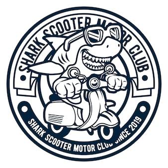 Shark scooterist logo