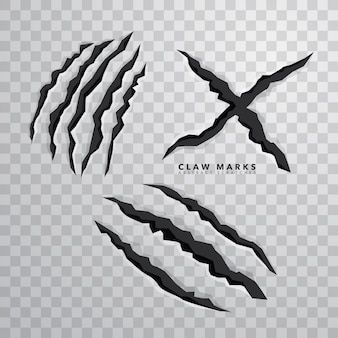 Sharp claw segna su sfondo isolato