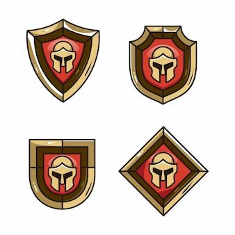 Shield mascotte casco da gioco spartano