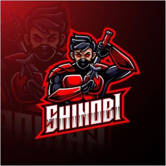 Shinobi sport logo design mascotte