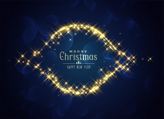 Shiny merry chrismtas sparkles card design