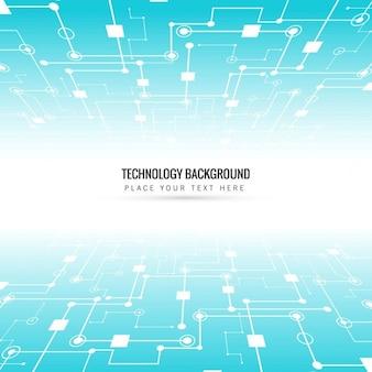 Shiny tecnologia sfondo blu