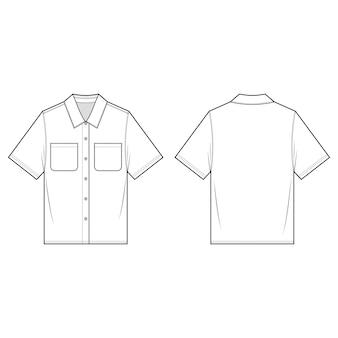 Shirts maniche corte moda modello schizzo piatto