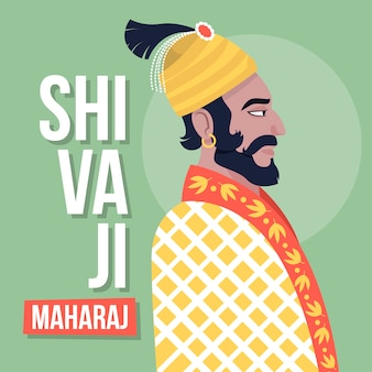 Shivaji maharaj design illustrazione