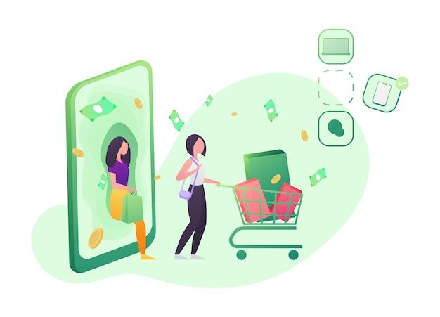 Shopping cellulare, e-commerce