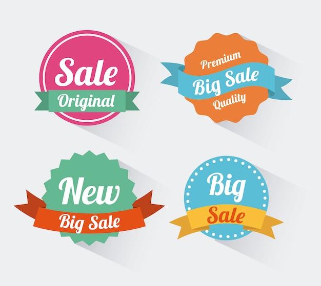 Shopping design su sfondo bianco illustrazione vettoriale