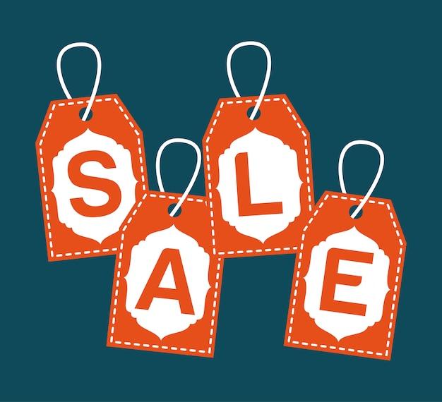 Shopping design su sfondo blu illustrazione vettoriale