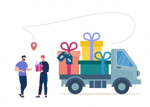 Shopping di prodotti in vendita, clienti abituali dell'azienda