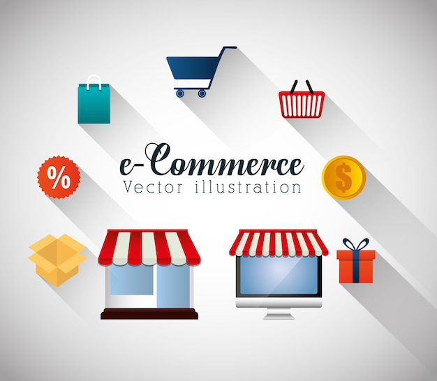 Shopping e grafica e-commerce