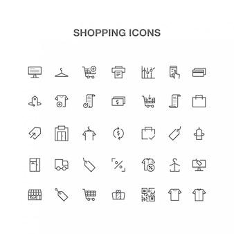 Shopping icon line