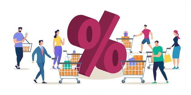 Shopping in negozio vendita con grande sconto