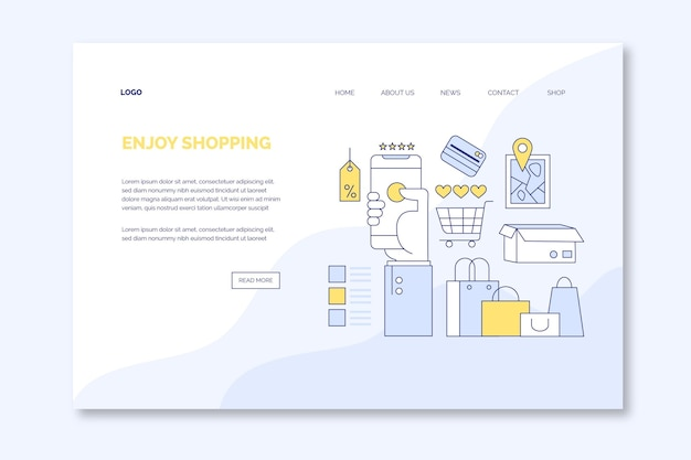 Shopping in stile landing page online