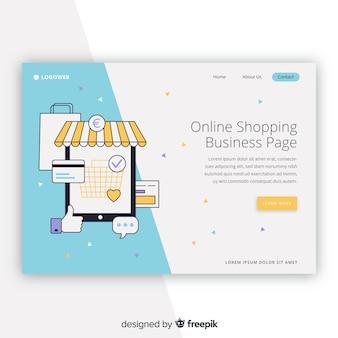 Shopping modello di pagina di destinazione