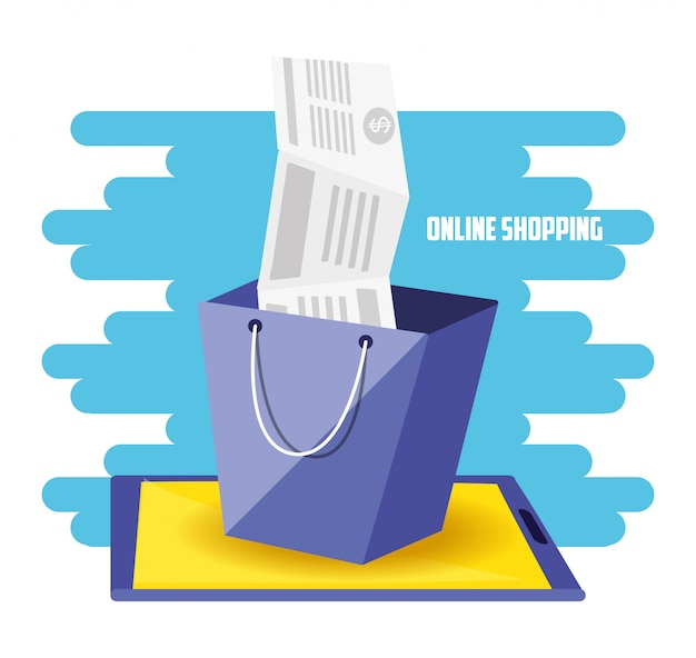 Shopping on line con borsa aggiungi