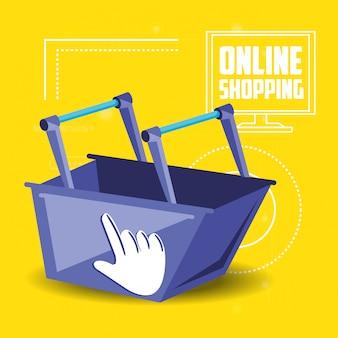 Shopping online con carrello aggiungi