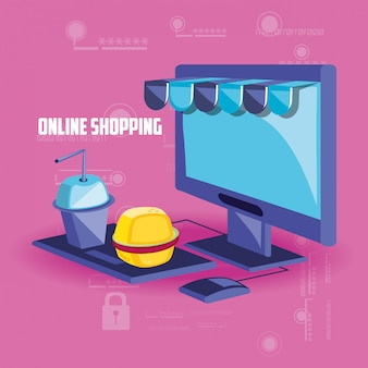Shopping online con desktop