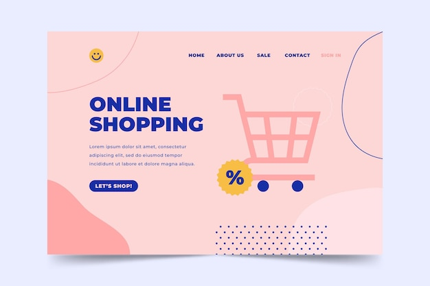 Shopping online e landing page del carrello
