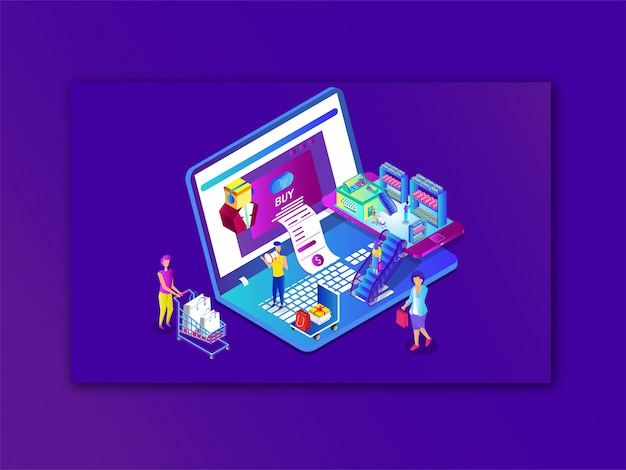 Shopping online o pagamento da laptop e smartphone
